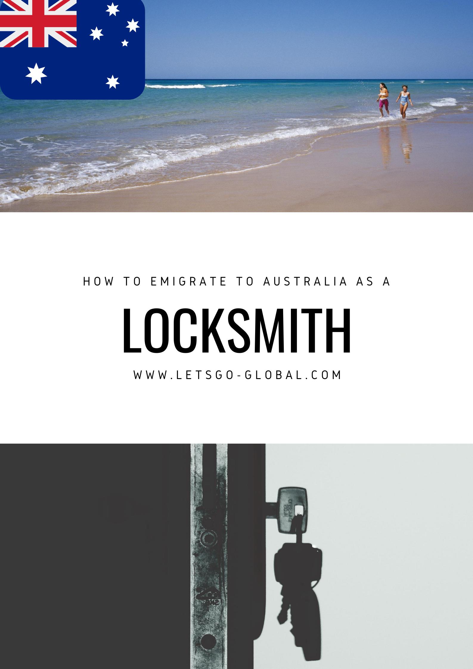 Migrate to Australia as a Locksmith